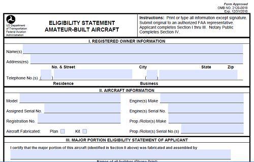 FAA Form 8130-12