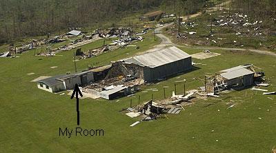 Ferguson Airfield in Pensacola after Ivan. My hangar space still stands.