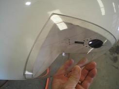 Fitting the wingtip light cover