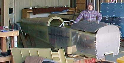 Me and my RV-8 fuselage