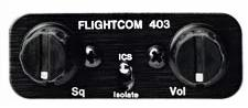 Flightcom 403S intercom