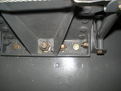 Landing gear bolts from the inside