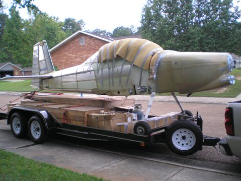 My kitplane project packed up and ready to move from Louisiana to North Carolina
