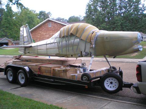 My kitplane project packed up and ready to move from Louisiana to North Carolina