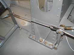 Rudder pedal cabling