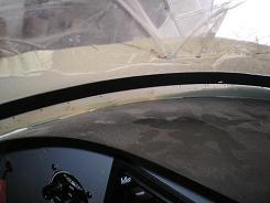 Unpainted windshield