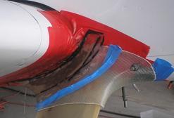 Upper Gear Leg Fairing Fiberglass Layup