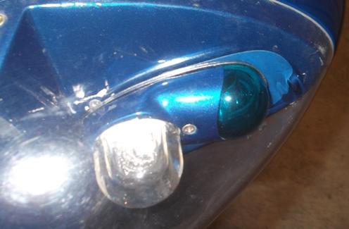 Wing tip light repair
