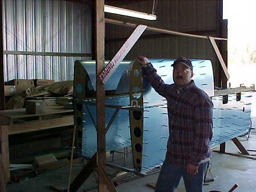 Wing jig using uprights from my tail kit jig.