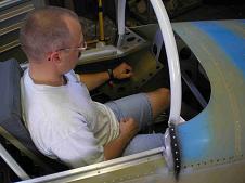 Me checking fit of custom throttle quadrant.