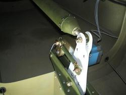 Elevator bellcrank pitch trim servo