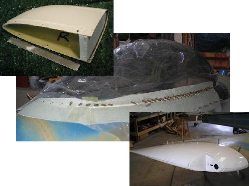 Some kitplane fiberglass components