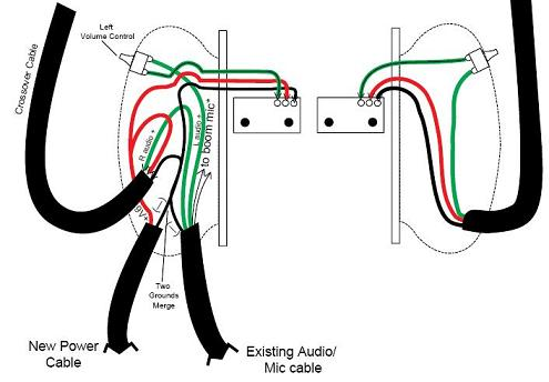 Final stereo headset wiring