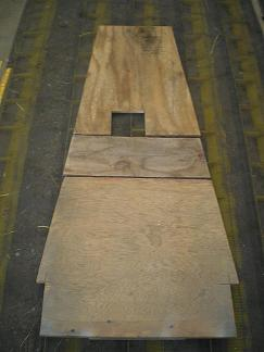 Plywood boards for lower longerons