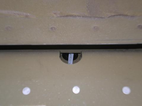 Closeup of horizontal stabilizer electric hole